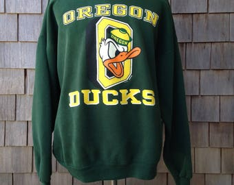 Vintage 90s OREGON DUCKS sweatshirt - XXL / 2XL - University of Oregon