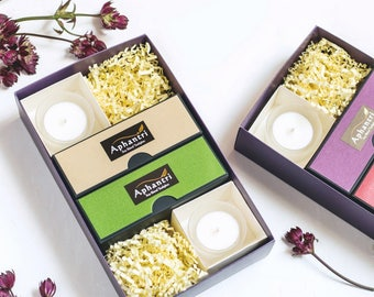 Scented Tea Lights Gift Set Candle Gift Set for Women Relaxing Gift for Her Candle Scented Candle Gift Travel Gift for Women