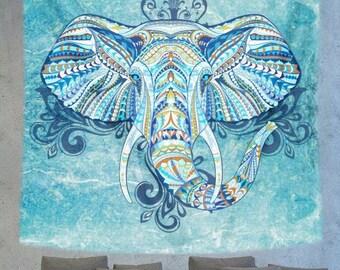Bohemian elephant wall tapestry, mandala art wall hanging, wall decor tapestry, bohemian wall tapestry
