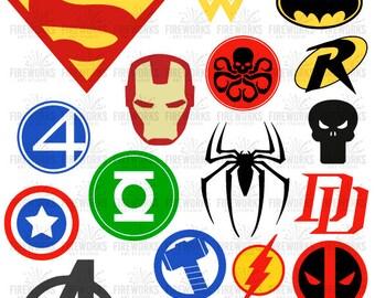 Superhero digital file,  Superheroes SVG, Superhero logo SVG, Superhero logo clipart, super hero svg, cameo files, svg files for circuit EPS
