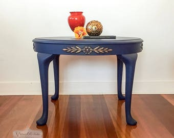Deep Blue Occasional Table