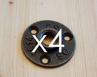 """Set 4 1/2 """"flanges - flange floor cast 15/21 mm"""