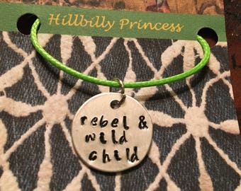 Rebel & wild child necklace