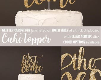 the best is yet to come cake topper, engagement cake topper, bridal shower cake topper, bachelorette cake topper, Glitter party decorations