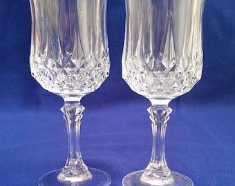 cristal du0027 arques longchamp wine glasseslead wine glasses