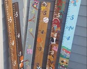 Ready To Ship! Growth Chart, Jumbo Height Ruler, Decorated Growth Chart, Baby Shower Gift, Baby Room Decor, Kids Room Decor, Measuring Stick