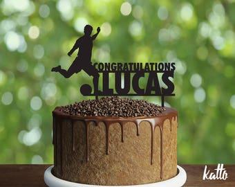 Soccer Birthday Cake Topper, Footballer Cake Topper, Soccer Cake Topper, Football party, Footballer birthday Cake Topper, Soccer party