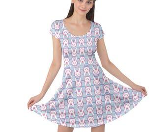 D.Va Dress - Short Sleeve Dress Overwatch Dress Hana Song Dress Pink Mech Dress Plus Size Dress Video Game Dress Mobile Exo Force Dress