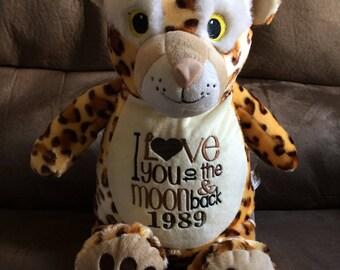 Personalized Stuffed Animal,  Cheetah