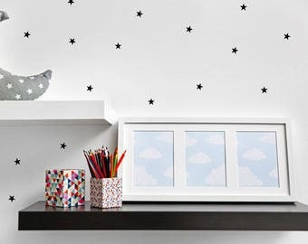 Stars Wall Decal - 2.5cm Set of 100+ - Star Decal Wall Sticker - Nursery Kids Baby Room Pattern | PP105