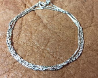 "19"" Sterling Silver Small Box Chain"
