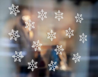 RE USABLE - 60 Medium SNOWFLAKES Window Decals Christmas Window Decals, Snowflakes Window Cling, Snowflakes Window Decor - Snowflakes Pack