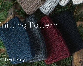 Easy Knitting Pattern | Thick Wool Ear Warmers