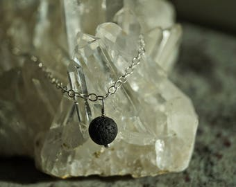 Sterling Silver Lava Essential Oil Diffuser Necklace || Lava Rock || Lava Bead ||Aromatherapy Jewelry || doTERRA || Young Living
