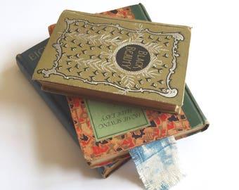 N O T E Bookmark / Indigo Bookmark / Fabric Bookmark / Linen Bookmark / Boho Bookmark / Blue Bookmark / Book Mark / Teacher Gift