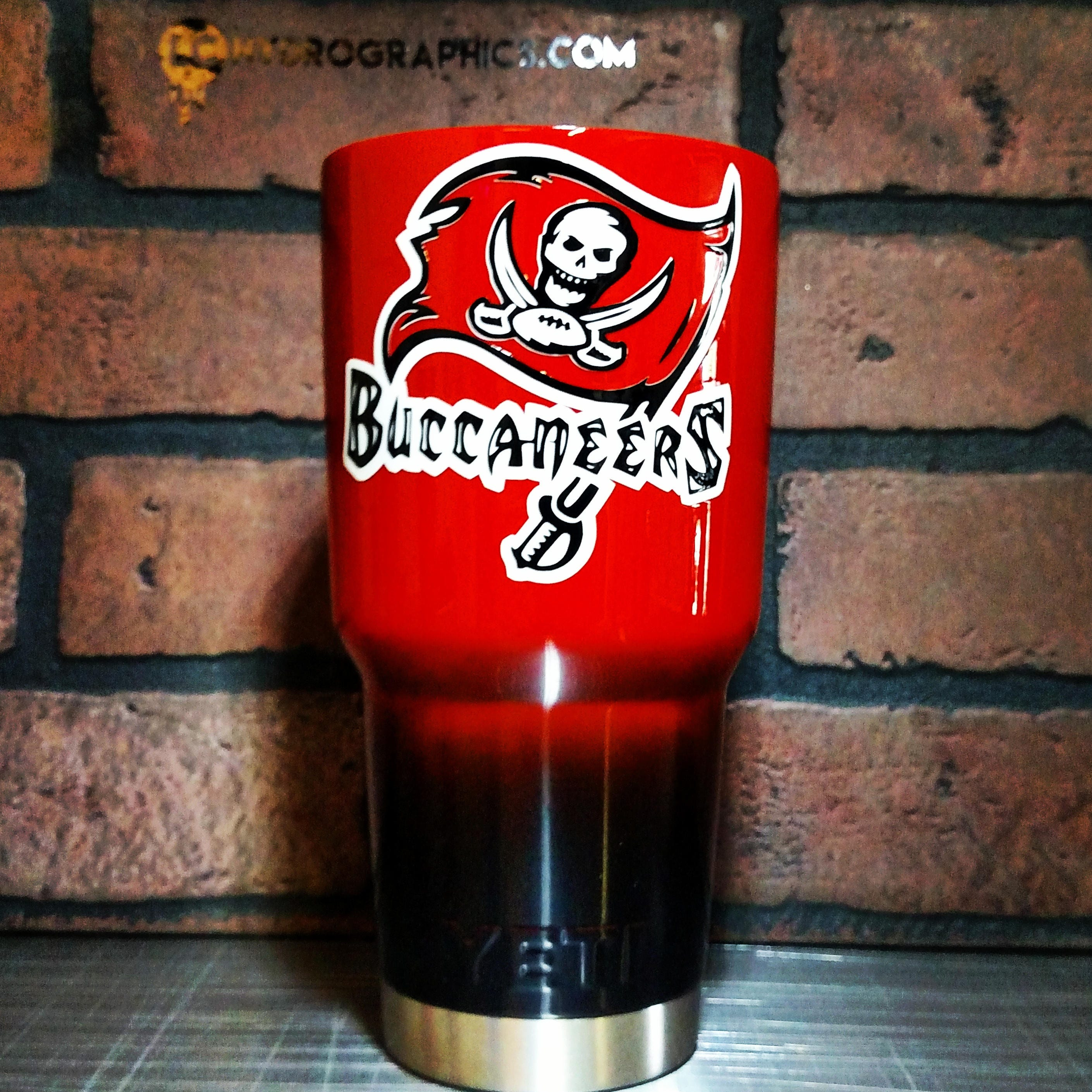30oz Ozark Or Yeti Cup Two Toned Red And Black Buccaneers