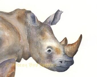 Rhino Print, Rhino Decor, Rhinoceros Art, Rhino Gifts, Safari Nursery Decor, African Animal Print, Safari Nursery Art, Nursery Decor