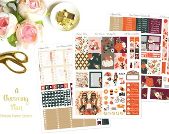 Autumn Bliss - Printable Planner Stickers - Instant Download
