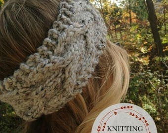 KNITTING PATTERN ~ knitted headband, cabled headband, winter headband ~ Ashby Knit Headband
