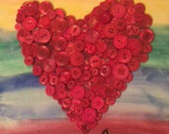 Heart button art