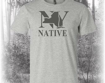 New York Native Shirt, Native New York Shirt, New York Shirt, NY Shirt, New York State Shirt