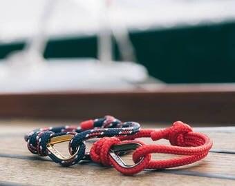 Valentine Day Present For Him and Her Red Bracelet | Valentines gift | Sailing gift | Friendship Gift | Boyfriend Gift | Man Bracelet