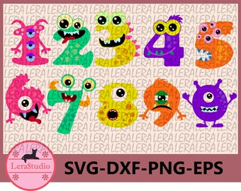 60 % OFF, Monster Numbers SVG, Numbers svg, Funny Monsters svg, Monster svg, png, eps, dxf, Baby SVG, Cut files for Silhouette Cameo