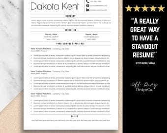 professional resume template two page resume template set
