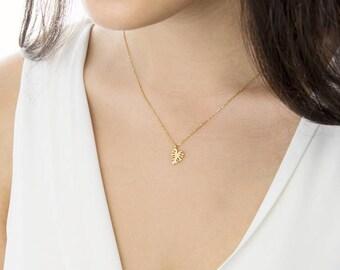 Gold Leaf Necklace, Monstera Leaf Necklace, 14k Gold Necklace, Yellow Gold, Tropical Leaf Necklace, Gold Monstera Leaf, Gold Summer Necklace