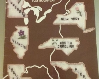The 50 States Magnets for Plastic Canvas