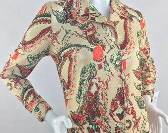 Vintage Sears Polyester Shirt/Size Large