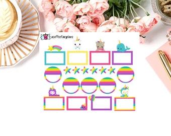 Unicorn Functional Planner Stickers