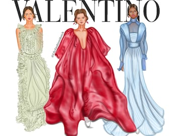 Your Clothing Line Illustration with 3 models