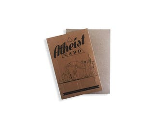 Atheist Christmas Card with envelope