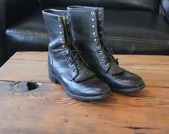 Justin Cowboy Combat Boots
