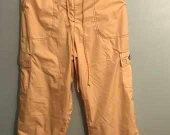 Yellow Cargo Windbreaker Pants