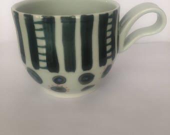 White and Black Mug