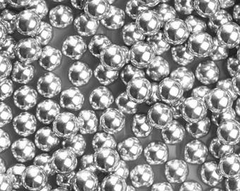 10mm Jumbo Edible Silver Dragees, FDA approved dragees, edible silver sprinkles, silver sprinkle, silver candy beads, silver pearls, drageés
