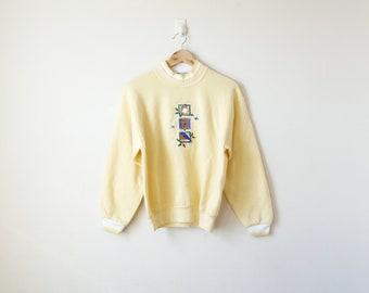 80s Eastern Bluebird Sweatshirt - 80s Sweatshirt - 80s Animal Sweatshirt - 80s Nature Sweatshirt - 80s Bird Sweatshirt - Women's M