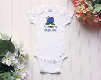 Mommy's Blueberry Onesie® - baby clothes, baby girl Onesie®, baby nickname Onesie®, take home outfit, baby name Onesie®, little berry
