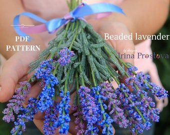 Beaded Flowers Pattern For Beginner  Seed Bead Tutorials DIY Flower How To Make Flowers Tutorial Master Class Seed Bead Pattern Lavender