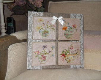 Decorative cloth with embossed Shabby chic style