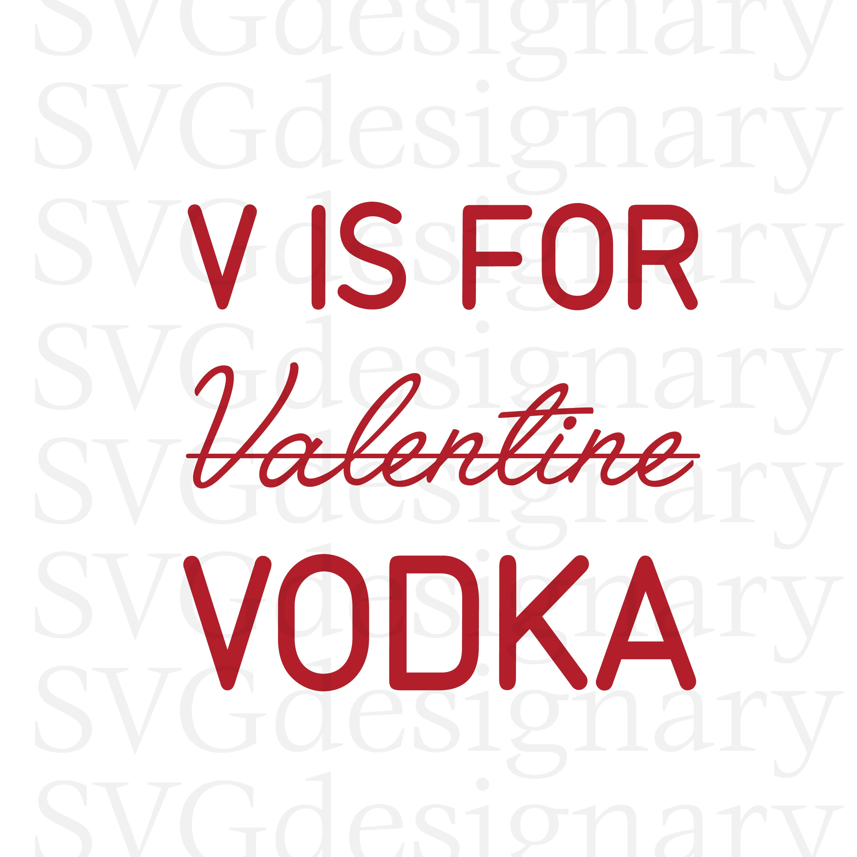 this is a digital file valentines vodka