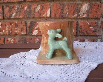 Morton Fawn Planter- USA pottery,mid century