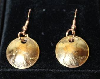 1940 Set Wheat Penny Earrings