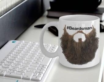 "Beard Mug ""#Beardsman Great Beard Coffee Mug"" Mugs With Beards That Beardmen Will Love"