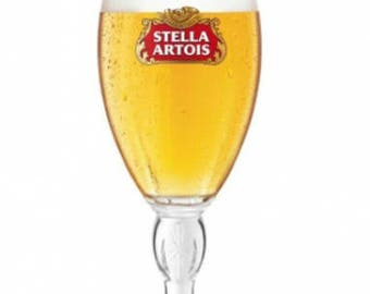 Engraved Stella Artois Chalice Pint Glass. Personalised with your message. Great for Dad or a Stella lover!