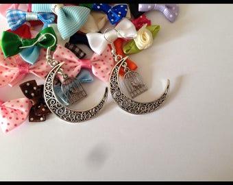 """Crescent Moon"" earrings"