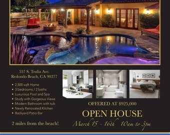 Real Estate Open House Flyer - Professionally Customized