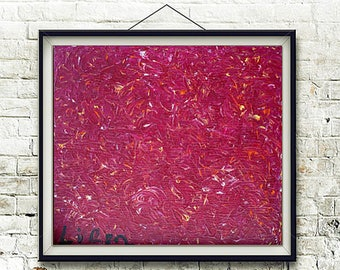 """Lava - Original Modern Art Abstract Painting On Canvas - One of a Kind - Size: 23.6"""" X 19.6"""" Inches (60cm x 50cm)"""